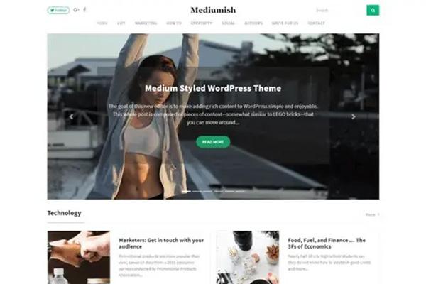 Mediumish WordPress Theme Mirip Medium
