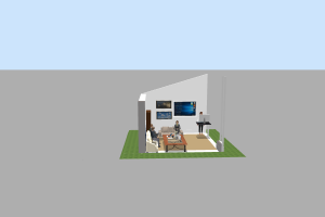 3D Modeling Desain Interior Booth Event