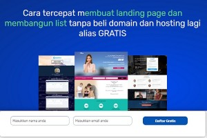 Gratis Buat landing Page Canggih Dan Mailing List