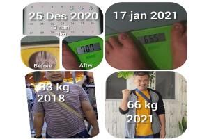 Turunbb 10 kg dalam sebulan tanpa Gym, tanpa supplement