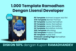 1.000 Template Ramadhan Lisensi Developer