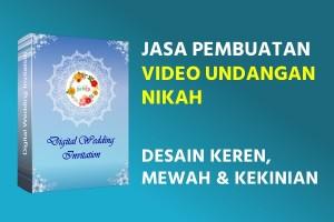 Jasa Pembuatan Video Undangan Nikah Kekinian
