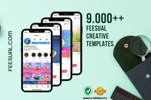 9.000++ Template Desain Sosial Media - Feesual Creative