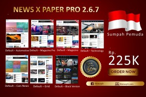 Bundle 7 In 1 News X Paper Pro Blogspot V.2.6.7